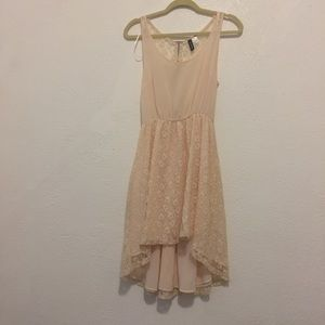Divided by H&M Pink Lace High Low Dress